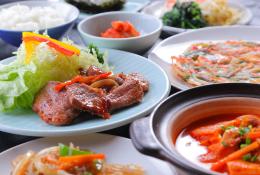 【韓国家庭料理★朝夕2食付♪】「食べるら?静岡」~味もボリュームも◎~